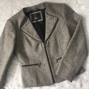 Mossimo Grey Wool Blend Moto Jacket